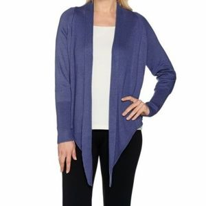 H by Halston Open Front Long Sleeve Crop